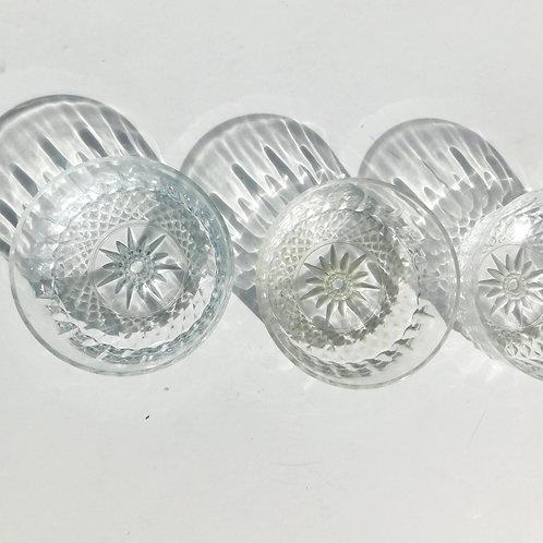 French Glass Dessert Bowl Sets (set of 4)