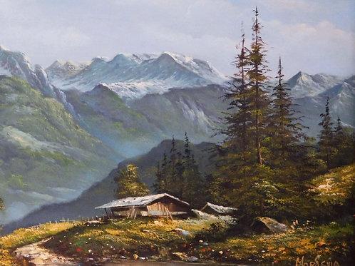 Mountain Landscape Signed