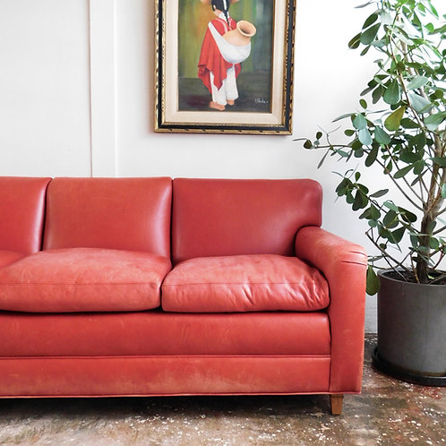 'Le Rouge' Red Leather Sofa