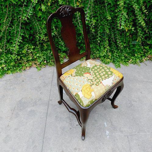 Antique Botanical Cactus Chair