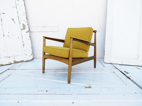 Mustard Mid-Century Chair