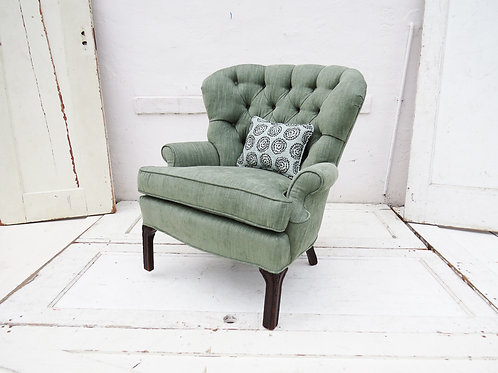 Tufted Sea Foam Green Armchair