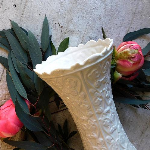 Cream Folk Vase