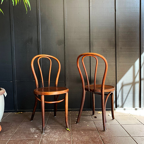 Thonet Wood Bistro Chairs