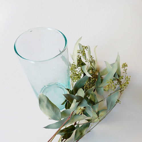 Recycled Glass Cone Vase