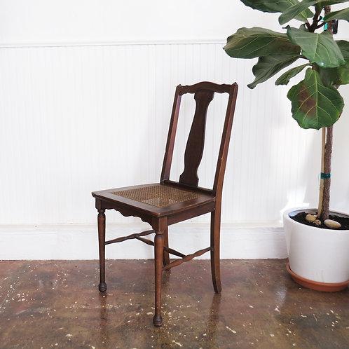 Antique Walnut Cane Chair