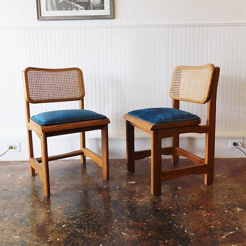 Oak/Cane Dining Chair