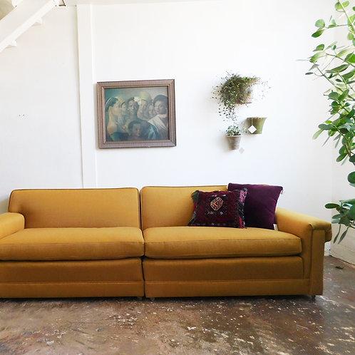 Goldenrod Mid-Century Sofa