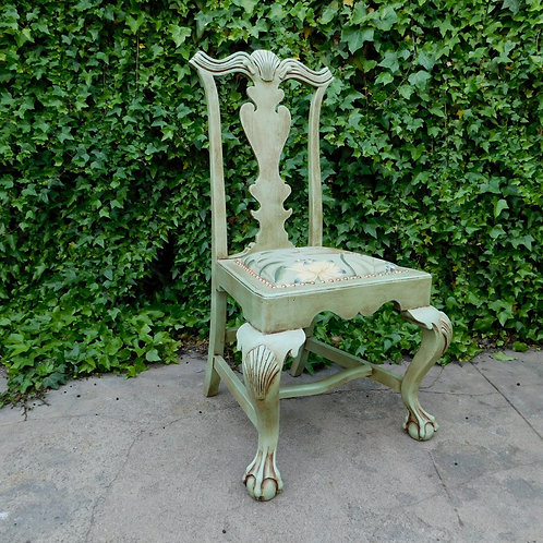 Carved Spanish Accent Chairs (sold individually / 1 left)
