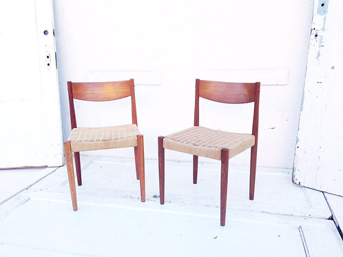 Mid Century Woven Seat Chairs |  Price/chair