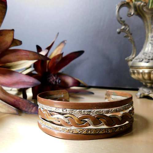 Braided Copper & Brass Bracelet