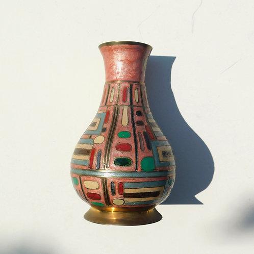 Modernist Blush Brass Vase
