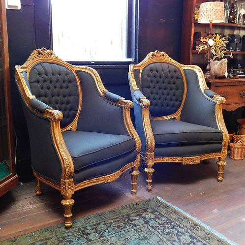 Louis XIV Baroque Tufted Chair (price per chair)