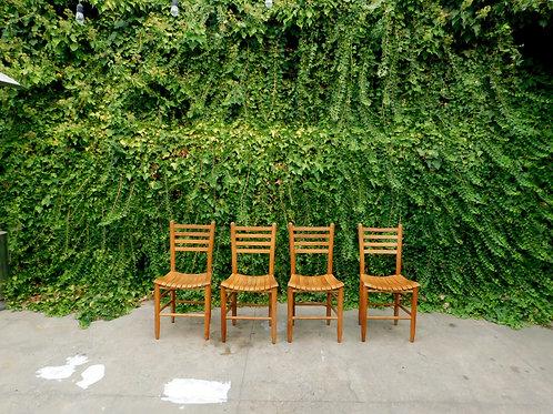 Vintage Arthur Umanoff Style Farmhouse Chairs (set of 4)