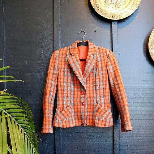Plaid l'Orange 60's Coat