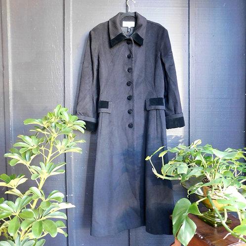 Black Velveteen Revolution Coat