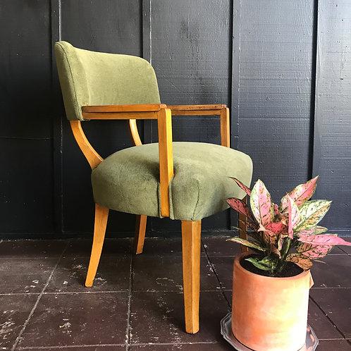 Petite Velvet Club Chair
