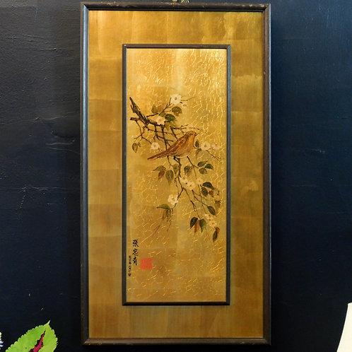 Mid Century Golden Oiseau Art