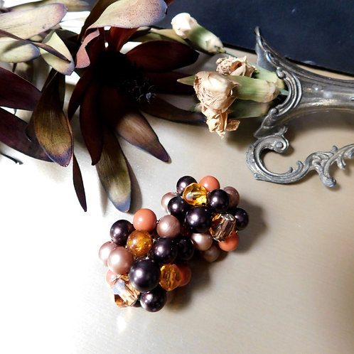 Beaded Cluster Earrings