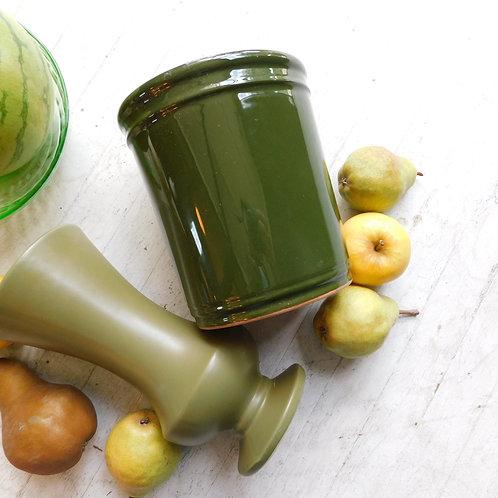 Ceramic Avocado Green Utensil Holder