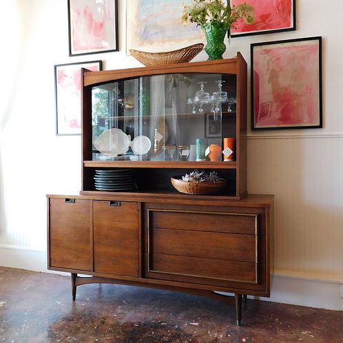 Mid-Century Walnut Hutch