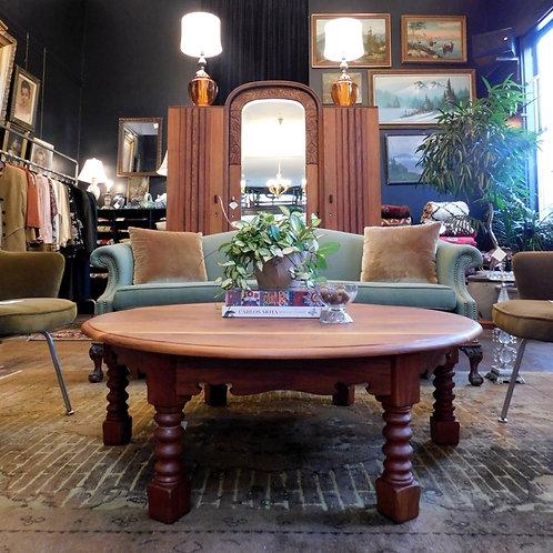 Craftsman Round Mahogany Coffee Table