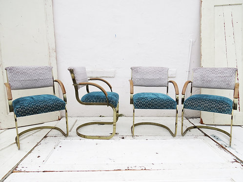 1980's Brass Chairs