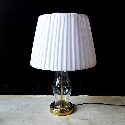 Glass & Brass Lamp