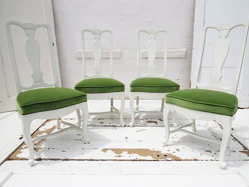 Green Velvet Vintage Chairs