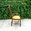 Thumbnail: Vintage Modern Slatted Brassy Velvet Accent Chair