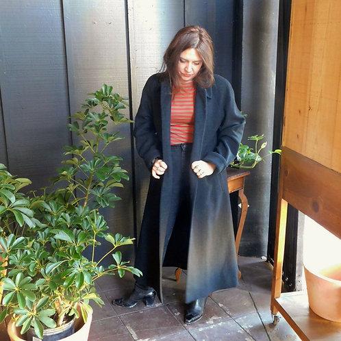 Heathered Charcoal Wool Overcoat