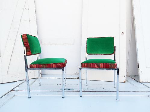 Chrome Tribal Accent Chair   Price per chair
