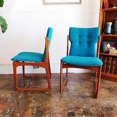 Mid-Century Blue Chairs
