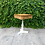 Thumbnail: Pedestal Douglas Fir and Creme Base Side Table