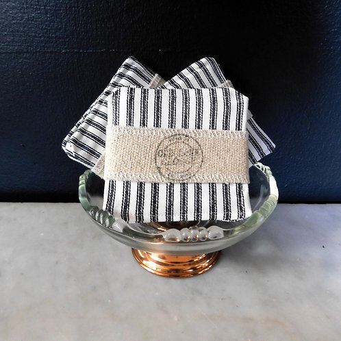 Ticking Striped Coasters (set of 4)