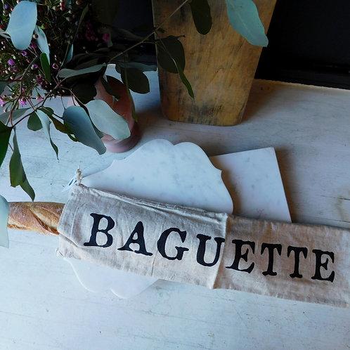 Linen Baguette Bag