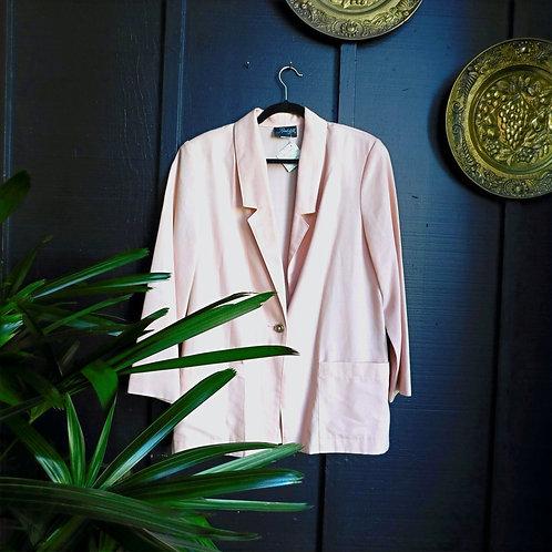 Vintage Pink Linen Chore Jacket