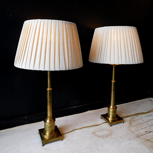 Vintage Adjustable Brass Lamps (sold Individually)