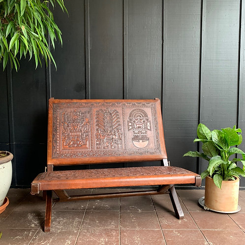Leather Folding Bench