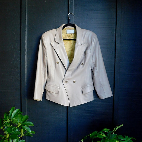 Taupe Leather Jacket