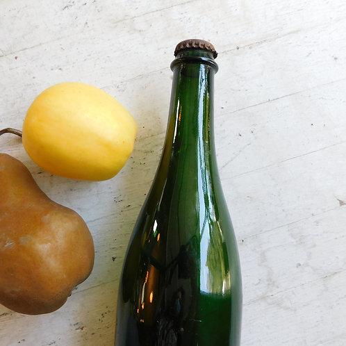 Vintage Emerald Green Glass Bottle