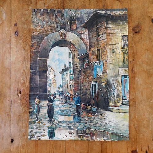 European / Italian Oil on Canvas