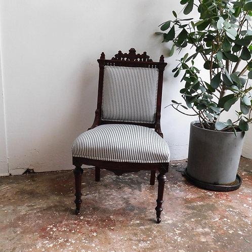 Victorian Railroad Stripe Chair