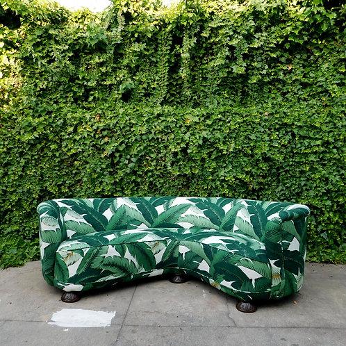 Palmier Curved Art Deco Sofa