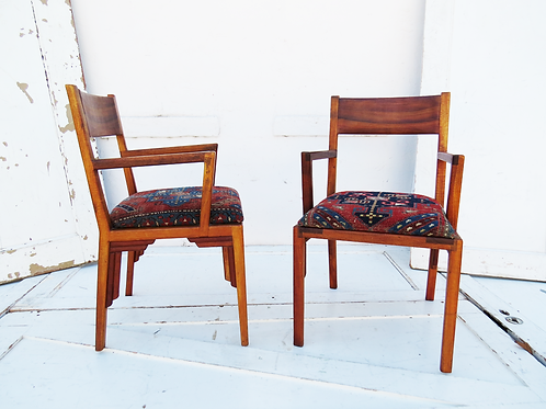 Antique Rug Chairs