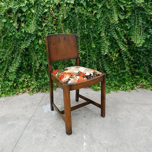 Craftsman 1940's Floral Velveteen Chair