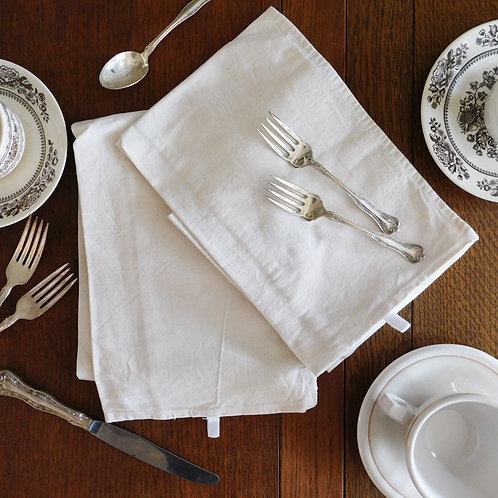 French Cotton White Dish Towel