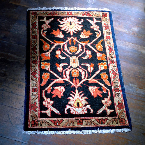 Afghan Black Multi Wool Rug
