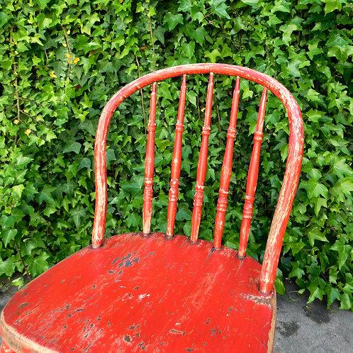 Antique Rouge Farmhouse Chair
