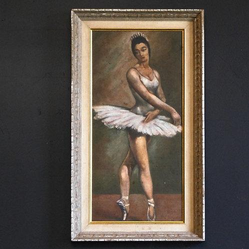 Framed Ballerina Original Painting